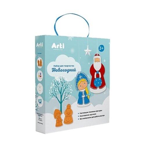 Купить Arti Набор для творчества Новогодний Дед Мороз и Снегурочка (Г000747), Роспись предметов