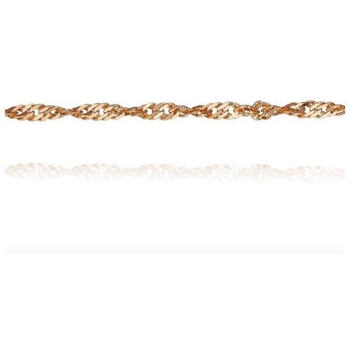 АДАМАС Цепь из золота плетения Панцирь одинарный ЦП230СзА2-А51, 40 см, 2.11 г
