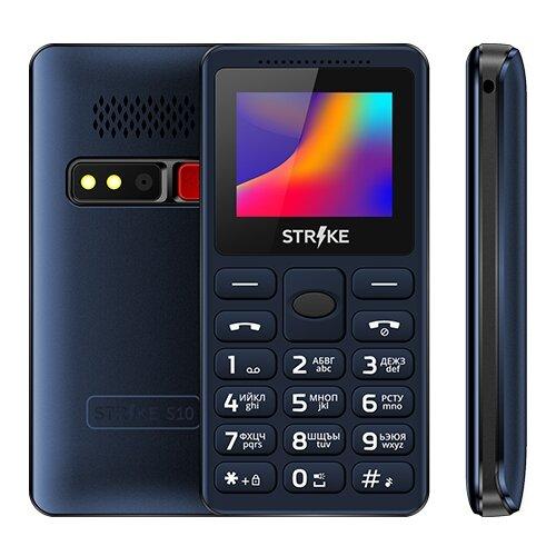 Телефон Strike S10 синий телефон