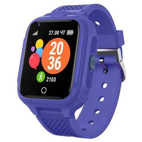 Детские умные часы c GPS GEOZON 4G Plus dark blue детские умные часы c gps geozon active розовый