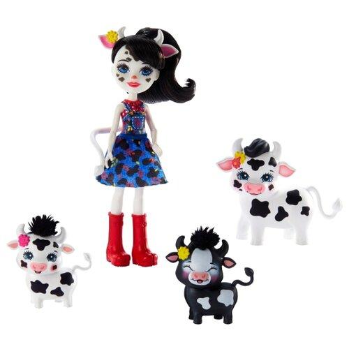 Купить Игровой набор Mattel Enchantimals - Кэмбри Коровка и Рикотта Мак Чиз GJX44, Игровые наборы и фигурки