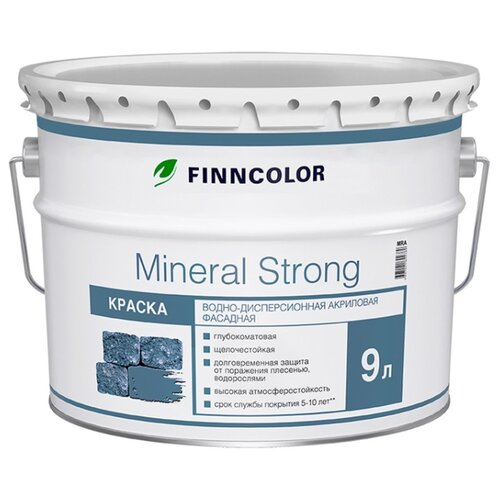 Краска акриловая FINNCOLOR Mineral Strong матовая белый 9 л 1 (A/BW)