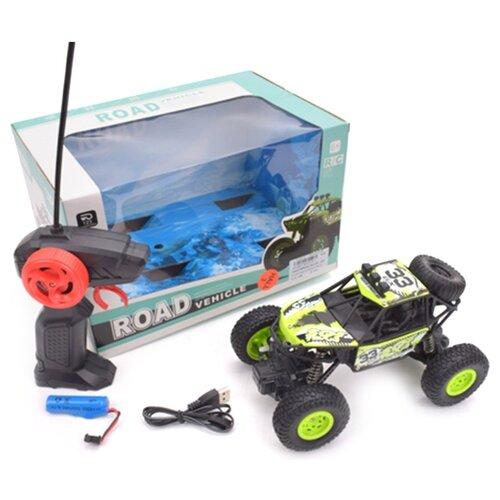 Купить Монстр-трак Shantou Gepai KS1019-1 19 см зеленый/черный, Радиоуправляемые игрушки