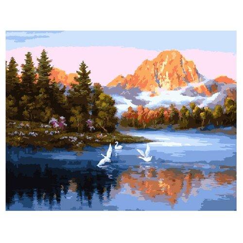 ВанГогВоМне Картина по номерам Лебеди на озере, 40х50 см (ZX 10004)Картины по номерам и контурам<br>