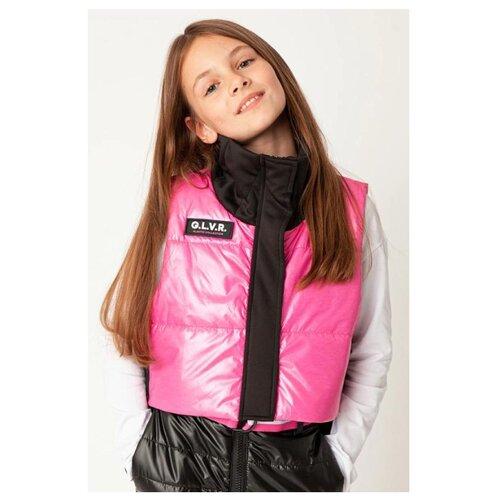 Купить Жилет Gulliver 22009GJC4701 размер 158, розовый, Куртки и пуховики
