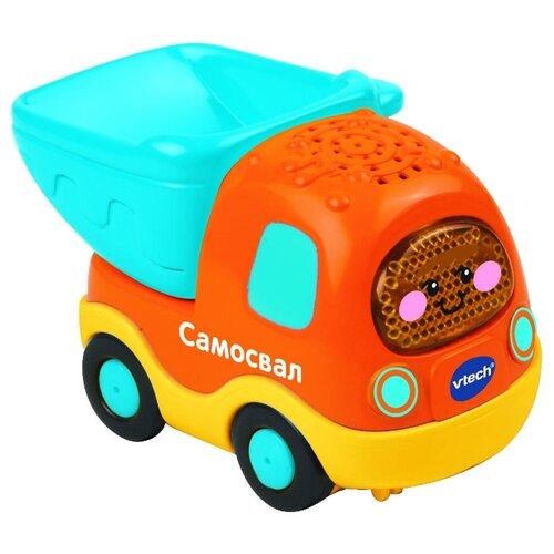 Грузовик VTech Бип-Бип Toot-Toot Drivers (80-142526) голубой/оранжевый/желтый машинка vtech бип бип toot toot drivers 80 180326 27 5 см голубой
