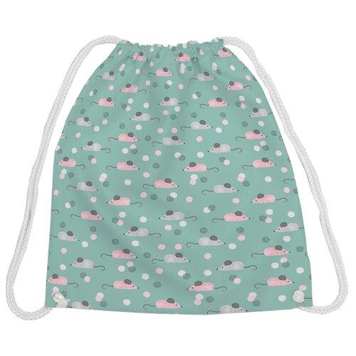 Купить JoyArty Рюкзак-мешок Мышиный год 2020 (bpa_185496V2) зеленый/серый/розовый, Мешки для обуви и формы