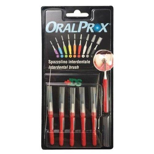 Зубной ершик Dr.Care ORALPROX №5, красный, 6 шт.