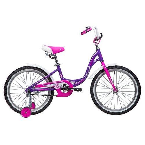 Фото - Детский велосипед Novatrack Angel 20 (2019) фиолетовый (требует финальной сборки) детский велосипед novatrack urban 20 2019 синий требует финальной сборки