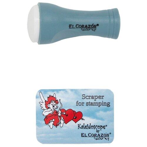 Купить Набор EL Corazon №3 односторонний штамп 2.3 см + скрапер серый