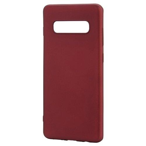 Чехол X-LEVEL Guardian для Samsung Galaxy S10+ бордовый