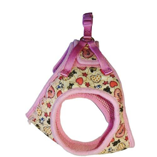 Шлейка Japan Premium Pet Жилетка Буржуа S розовый/бежевый