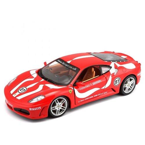 Купить Гоночная машина Bburago Ferrari F430 Fiorano (18-26009) 1:24 красный, Машинки и техника