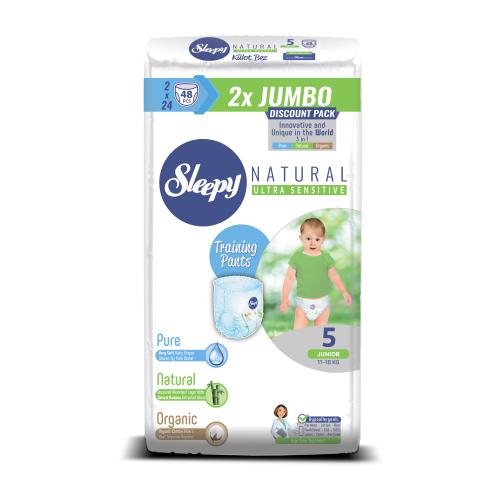 Sleepy трусики Natural Ultra Sensitive 5 (11-18 кг) 48 шт.