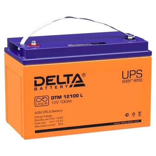 Аккумуляторная батарея DELTA Battery DTM 12100 L 100 А·ч аккумуляторная батарея delta battery dtm 1275 l 75 а·ч