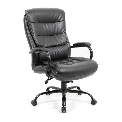 Компьютерное кресло Brabix Heavy Duty HD-004 для руководителя, обивка: искусственная кожа, цвет: черный компьютерное кресло brabix nitro gm 001 игровое обивка искусственная кожа цвет черный