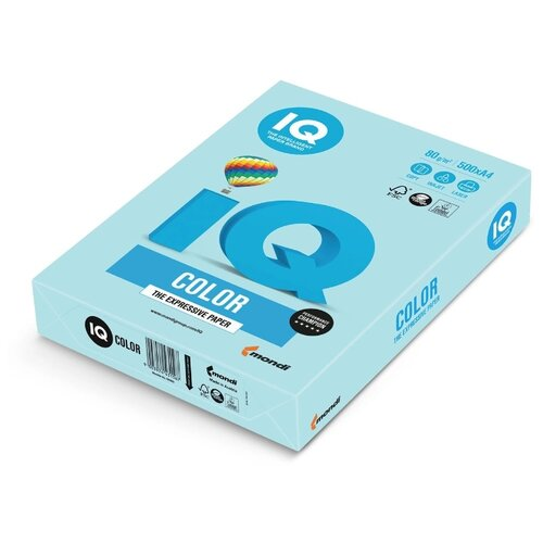 Фото - Бумага A4 500 шт. IQ color OBL70 голубой лед 1 шт. igrobeauty бафик для ногтей 3 цвета 1 шт голубой