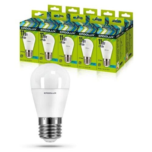Фото - Светодиодная Лампа Ergolux LED-G45-11W-E27-4K упаковка 10 шт светодиодная лампа ergolux led g45 11w e27 6k упаковка 10 шт