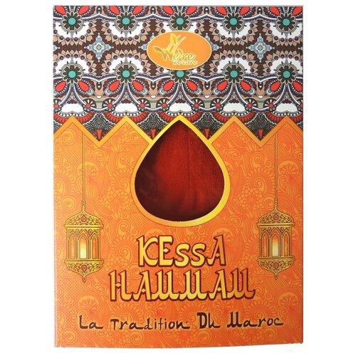 Мочалка We're We Care традиционная Марокканская рукавичка Кесса для пилинга и очищения кожи, средней жесткости оранжевый