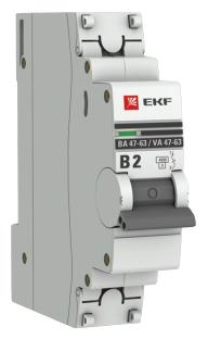 Автоматический выключатель EKF ВА 47-63 1P (B) 4,5kA