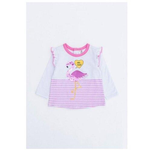 Купить Лонгслив Pixo размер 92, белый/розовый, Футболки и рубашки
