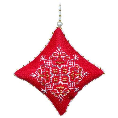 ZENGANA Набор для вышивания бисером и нитками Фантазия 8 х 8 см (М-074)