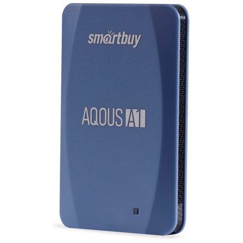 Фото - Внешний SSD Smartbuy Aqous A1 128GB USB 3.1 СИНИЙ внешний ssd smartbuy aqous a1 512gb usb 3 1 серый