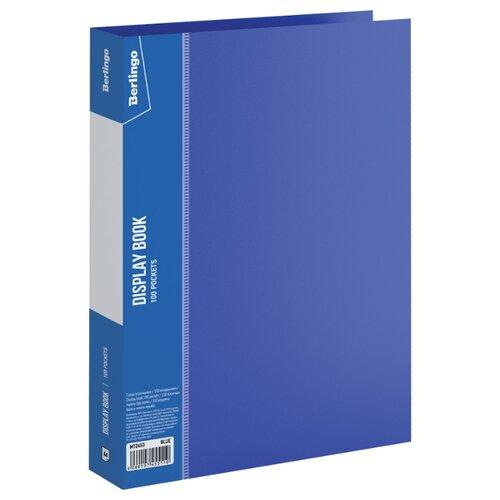 Купить Berlingo Папка со 100 вкладышами Standard A4, пластик синий, Файлы и папки