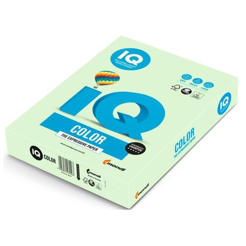 Фото - Бумага IQ Color А4 160 г/м² 250 лист. светло-зеленый GN27 1 шт. бумага iq color а4 color 120 г м2 250 лист кораллово красный co44 1 шт