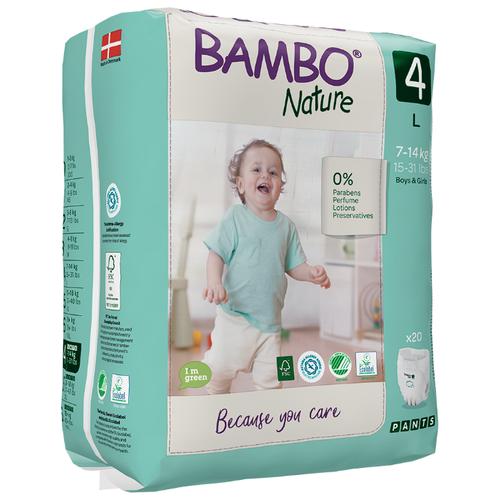 Купить BAMBO трусики Nature 4 (7-14 кг) 20 шт., Подгузники