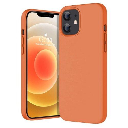 Krutoff / Чехол-накладка Krutoff Silicone Case для iPhone 12 mini (Айфон 12 мини) оранжевый