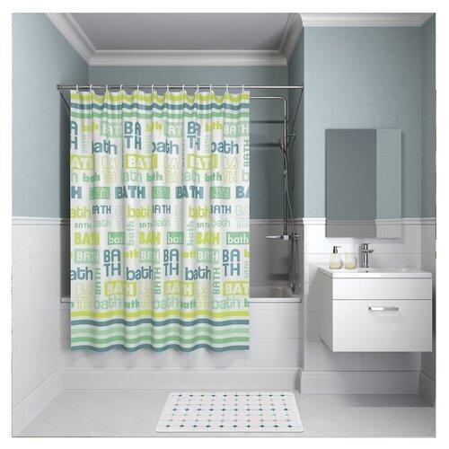 Фото - Штора для ванной комнаты Iddis B19P218i11 200х180 см полиэстер штора для ванной комнаты iddis basic b19p218i11