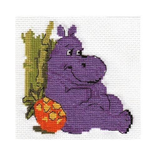 Купить Klart Набор для вышивания Бегемотик 11 x 11 см (6-071), Наборы для вышивания