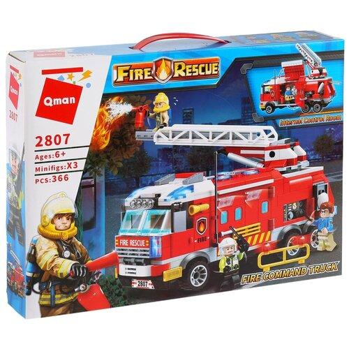 Купить Конструктор Qman Fire Rescue 2807 Пожарная машина, Конструкторы