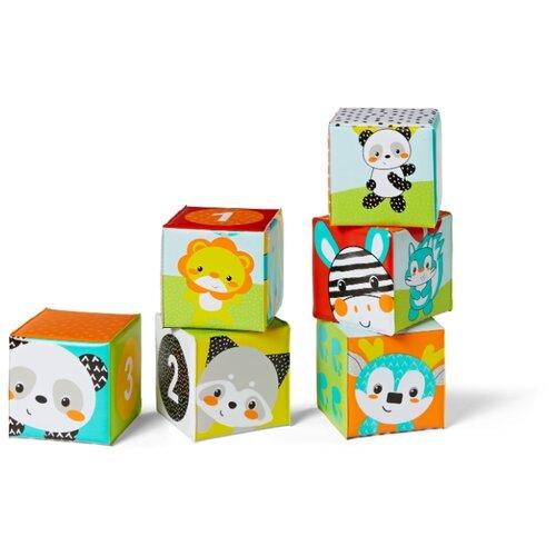 Купить Мягкие кубики для ванны «Цвета и числа», Infantino, Детские кубики