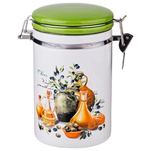 Банка для сыпучих продуктов с клипсой греческая оливка 750 мл см Lefard (230-209) банка для сыпучих продуктов феникс презент чаепитие 750 мл