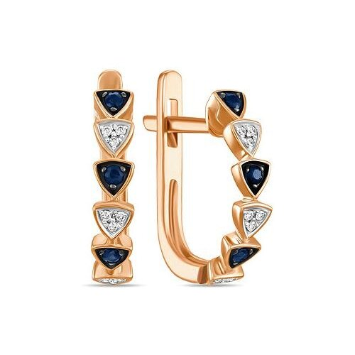 ЛУКАС Серьги с сапфирами и бриллиантами из красного золота E01-D-E312778SAP серьги из золота e01 d e59474 cp