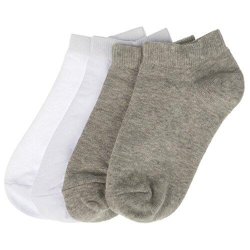 Купить Носки Oldos комплект из 4 пар, размер 23-25, белый/серый