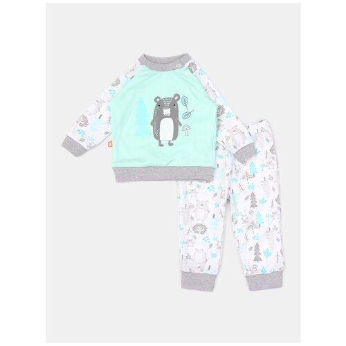 Купить Пижама KotMarKot размер 80, ментол, Домашняя одежда