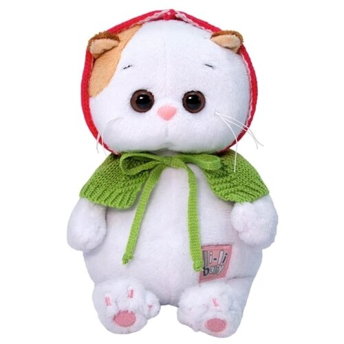 Купить Мягкая игрушка Basik&Co Кошка Ли-Ли baby в вязаной накидке 20 см, Мягкие игрушки