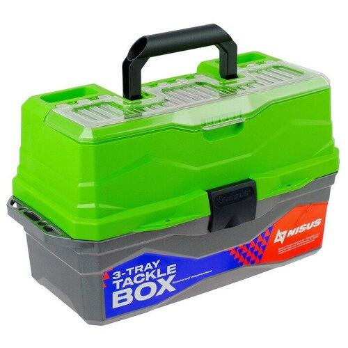 Ящик для рыбалки Nisus N-TB-3 44.5х25х22 см зеленый