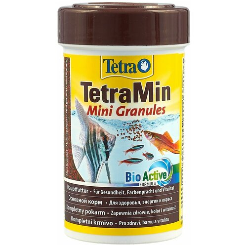 Фото - Сухой корм для рыб Tetra TetraMin Mini Granules, 100 мл сухой корм для рыб tetra tetramin granules 200 г