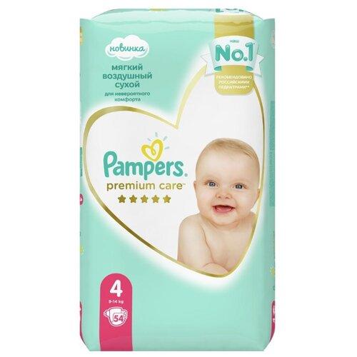 Купить Pampers подгузники Premium Care 4 (9-14 кг) 54 шт., Подгузники