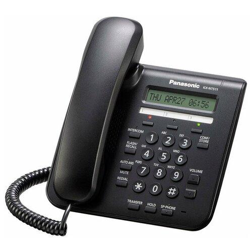 VoIP-телефон Panasonic KX-NT511А черный voip телефон panasonic kx nt553 черный