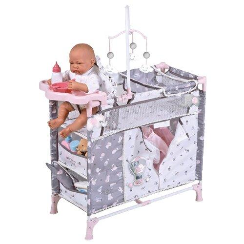 Купить 53035 Манеж-игровой центр для куклы с аксессуарами серии Скай, 70 см, DeCuevas, Мебель для кукол