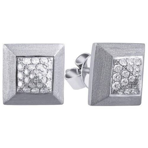 JV Золотые серьги с бриллиантами E0003352A04-SR-WG