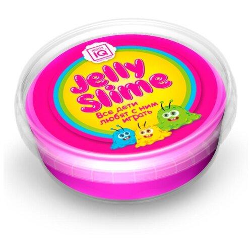Лизун Master IQ² Jelly Slime с блестками розовый