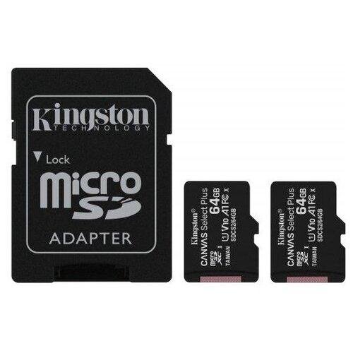 Фото - Карта памяти Kingston SDCS2/64GB-2P1A карта памяти kingston sdcs2 512gb