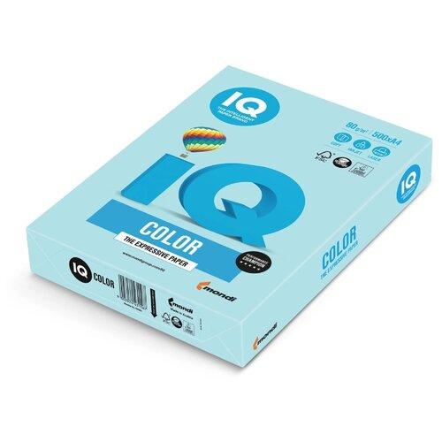 Фото - Бумага IQ Color A4 80 г/м² 500 лист. голубой МВ30 1 шт. бумага iq color а4 color 120 г м2 250 лист кораллово красный co44 1 шт