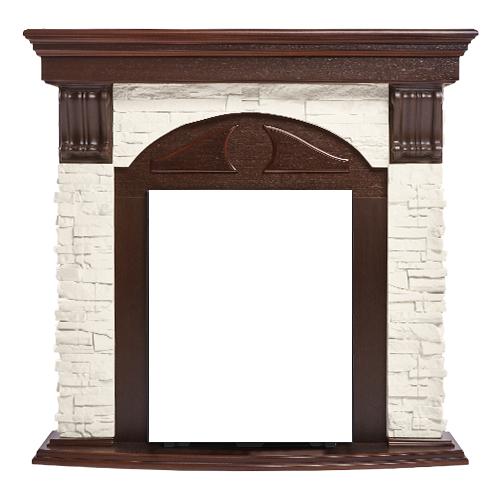 Портал Firelight Torre Classic шпон белый/темный дуб портал torre 25s камень белый шпон темный дуб